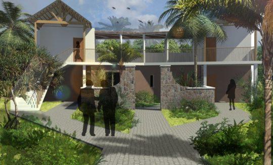 Projet Manapany vue de l'extérieur SketchUp
