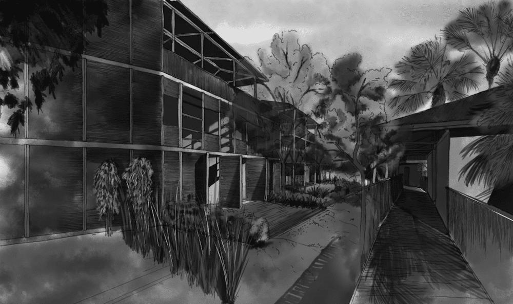 Projet 1787 Hôtel 4* en noir et blanc